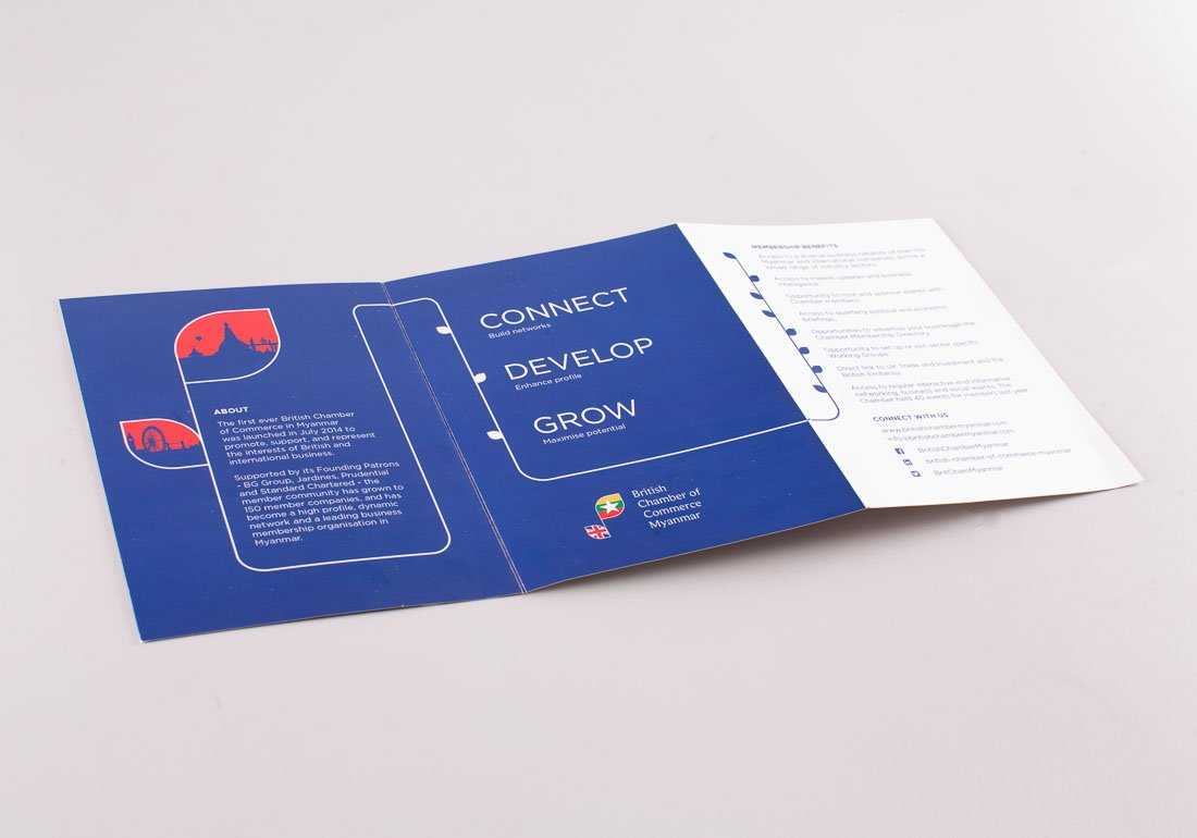 British Chamber of Commerce tri-fold flier