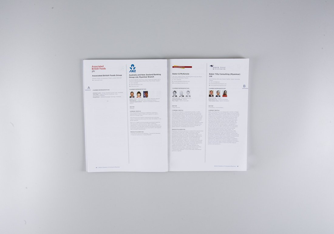 British Chamber of Commerce directory inside pages
